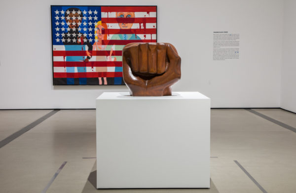 """Black Unity,"" 1968, by Elizabeth Catlett, as seen at The Broad Museum in Los Angeles. Photo by Pablo Enriquez/Courtesy of The Broad Museum"
