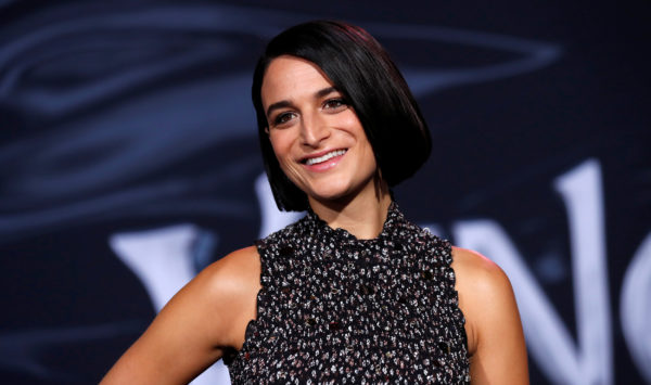 "Jenny Slate attends the premiere for the movie ""Venom"" in Los Angeles, California, on October 1, 2018. Photo by Mario Anzuoni/Reuters"