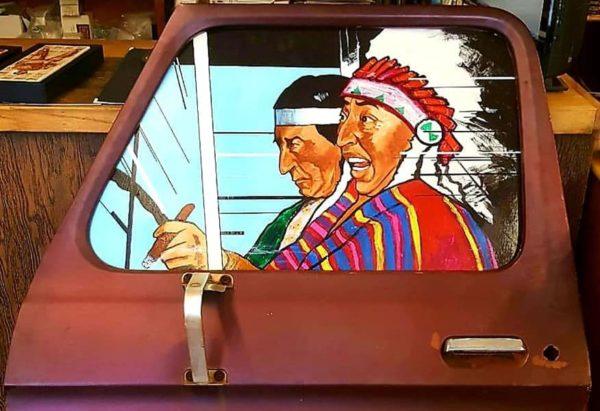 """Going to Santa Fe Indian market,"" 2016."