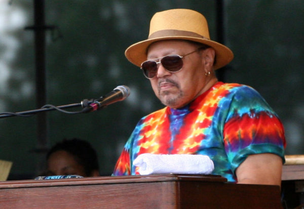 Art Neville performing with The Funky Meters at the New Orleans Jazz & Heritage Festival, Gentilly Stage, on Sunday, May 6, 2012. Photo courtesy: robbiesaurus/Flickr via Wikimedia Commons
