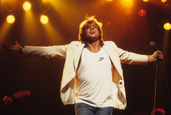 Eddie Money performs at the Orpheum Theatre in Minneapolis, Minnesota on May 2, 1987. Photo by Jim Steinfeldt/Michael Ochs Archives/Getty Images