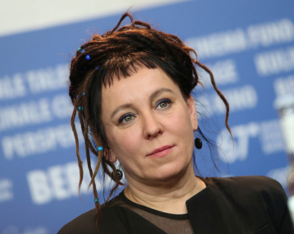 FILE PHOTO: Author Olga Tokarczuk attends a news conference to promote the movie 'Spoor' at the 67th Berlinale International Film Festival in Berlin, Germany, February 12, 2017. Photo by Michele Tantussi/Reuters