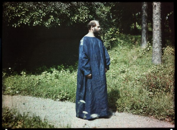 Gustav Klimt at the Atter lake. Lumiere-Autochrome-plate by Friedrich Walker. Cut-out. Austria. About 1910. Photo by Imagno/Getty Images.