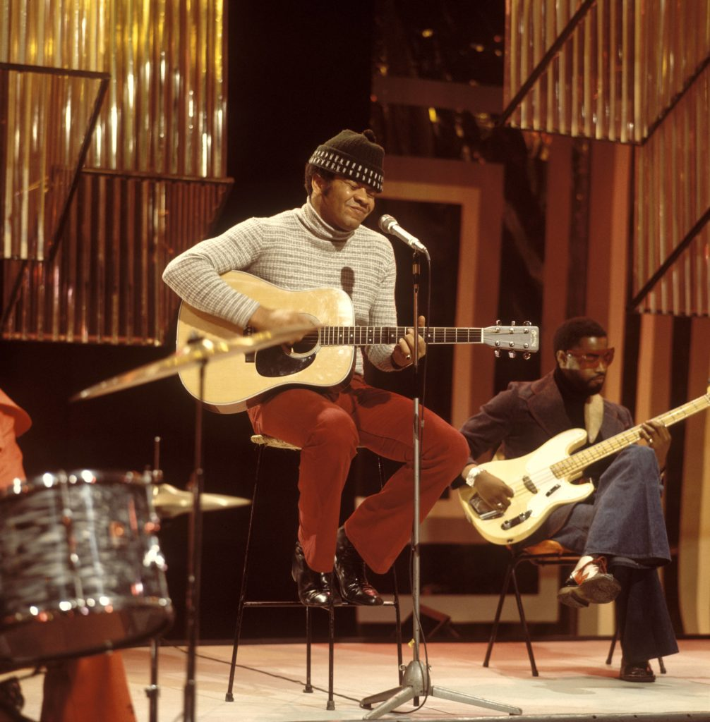 Bill Withers performing. Photo by David Redfern/Redferns